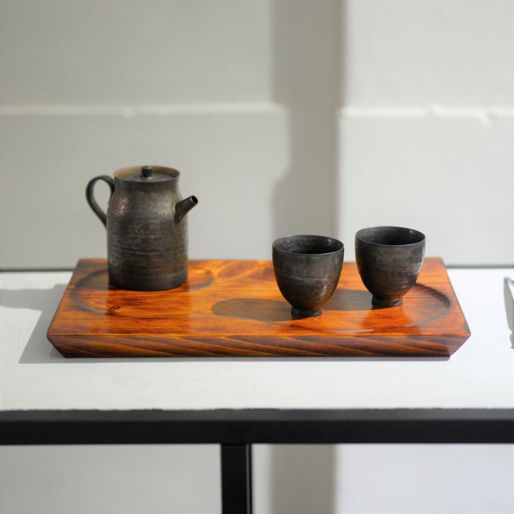 2020 日本檜木茶盤 天然漆塗裝