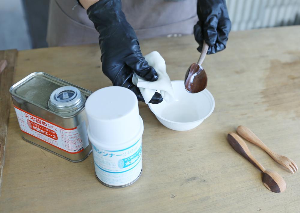 日本製木材固化漆:教學與測試